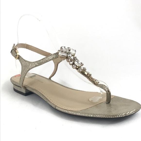 5b84b331ac34 Adrienne Vittadini Pian Jewel Thong Strap Sandal